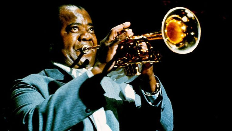 Louis Armstrong in 1969. Beeld anp