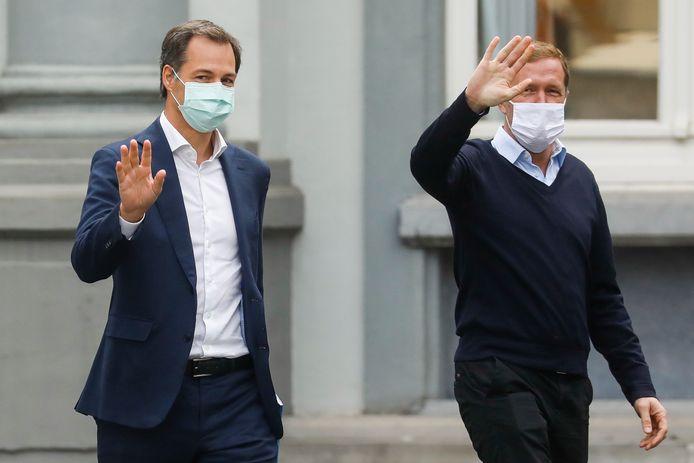 Formateurs Alexander De Croo en Paul Magnette