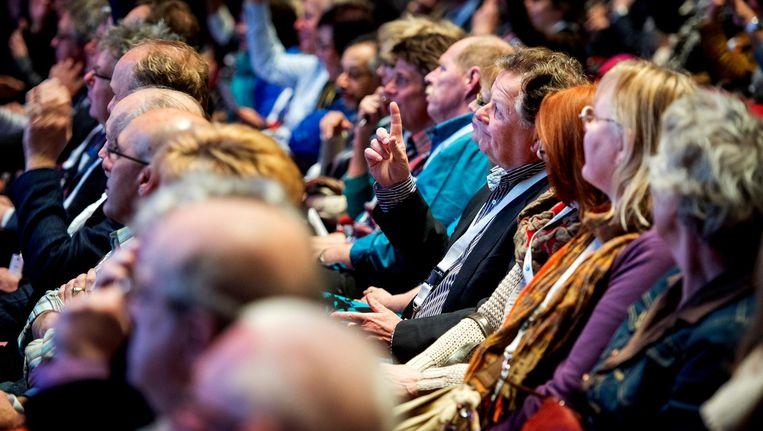 Publiek tijdens de inspiratieplusdagen voor oudere werkzoekenden georganiseerd door het UWV. Beeld anp