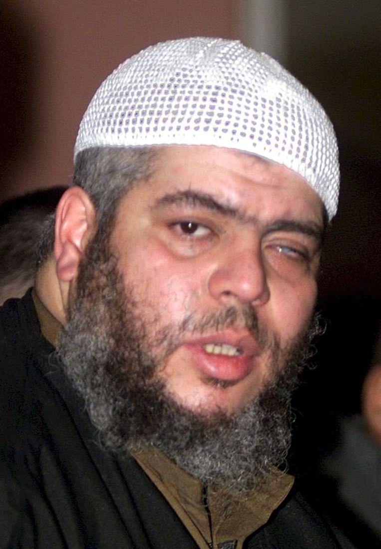 Abu Hamza, de Britse haatprediker, werd vrijdag in de VS tot levenslang veroordeeld. Hij inspireerde vele terroristen. Beeld null
