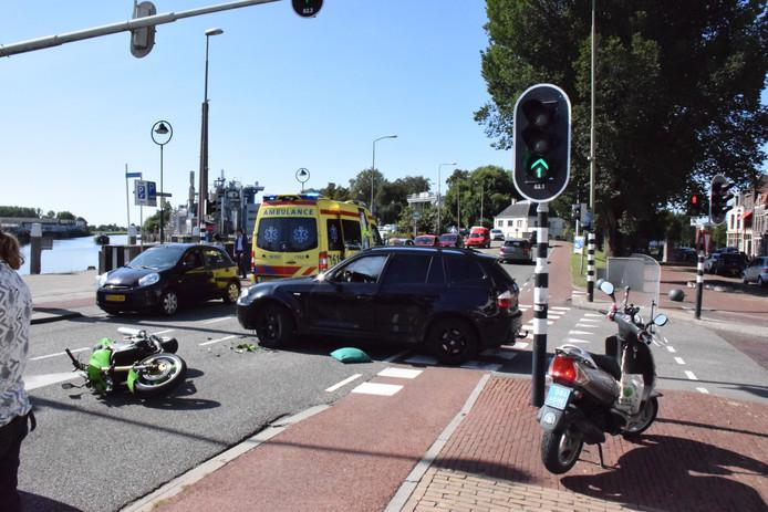 Ongeval op de Nieuwe Veerstal in Gouda.
