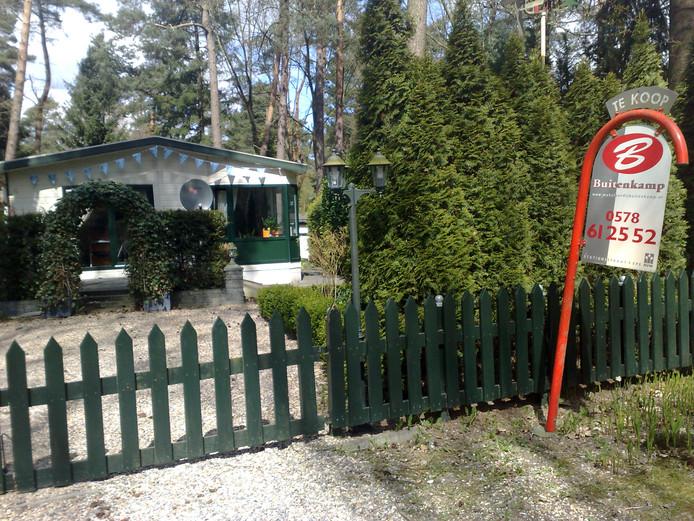 Veel recreatiewoningen op de Veluwe staan leeg.