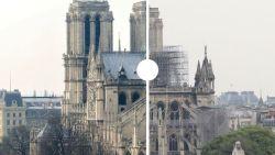 Voor en na: zo zwaar is de Notre-Dame verwoest