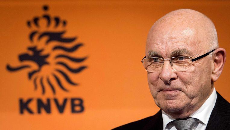 KNVB-voorzitter Michael van Praag. Beeld epa