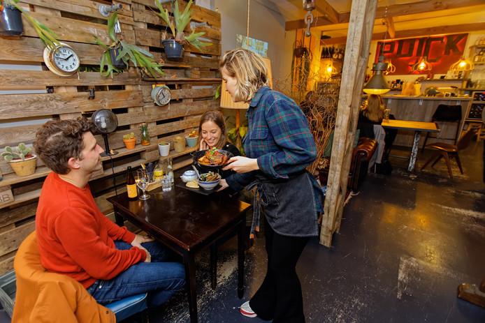 Restaurant Puick aan de Veemarktstraat in Breda.