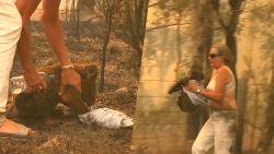 Moedige vrouw redt zwaar verbrande koala uit vlammenzee