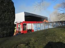 Brand bij afvalverwerker Remondis in Scherpenzeel