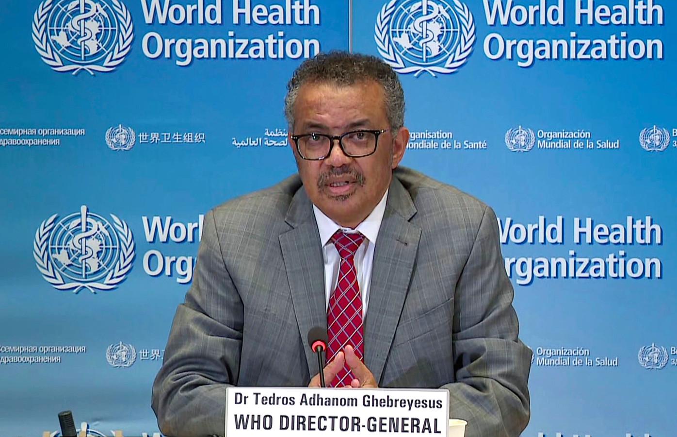 Tedros Adhanom Ghebreyesus, algemeen directeur van de Wereldgezondheidsorganisatie (WHO)