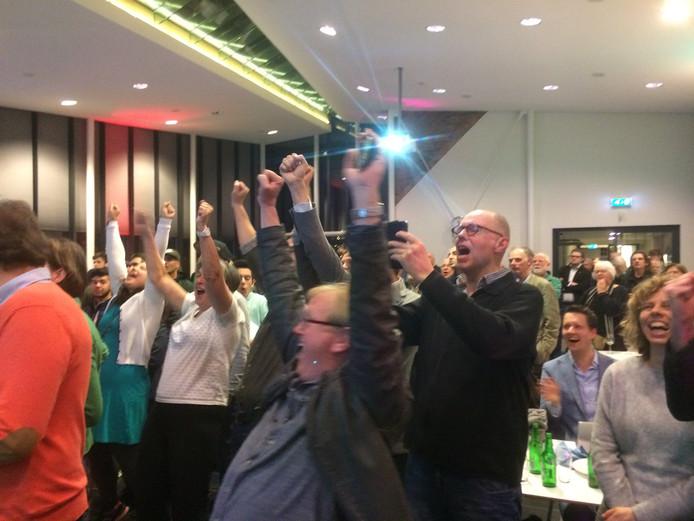 GroenLinks viert de overwinning in Culemborg. Het gewenste raadsakkoord komt er echter niet in de stad.