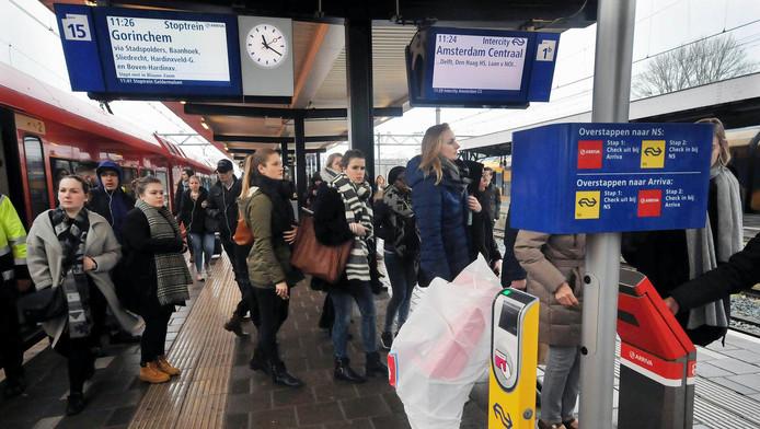 De trein van Arriva rijdt komend weekend niet.