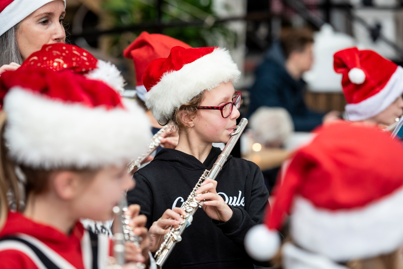 Muzikale 'kerstmannen'.