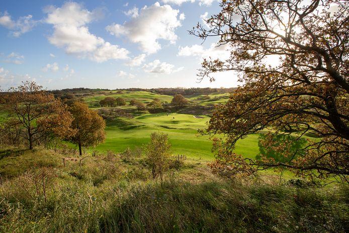 Vanaf de tee van hole 6 van de Koninklijke Haagsche Golf & Countryclub in Wassenaar heb je een fantastisch uitzicht over noordelijke helft van de baan en de greens van hole 8 (achtergrond) en hole 3. Foto: Bert Tielemans