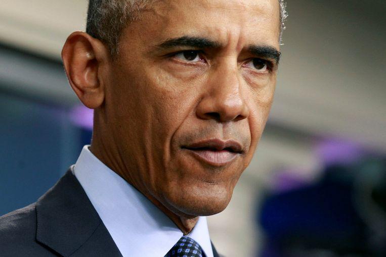 Obama tijdens de persconferentie. Beeld reuters