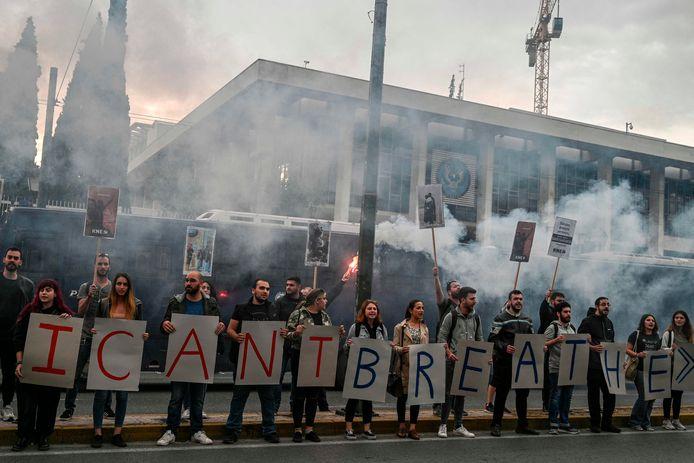 Athènes, devant l'ambassade américaine, ce 1er juin