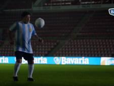 Maradona speelt legendarische Bavaria-reclame met Van Basten na
