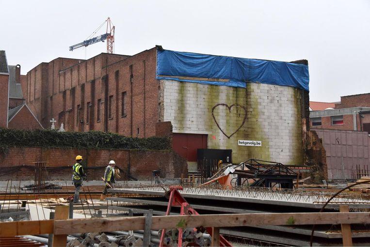 De theaterzaal van Het Gevolg heeft sinds het voorjaar van 2017 last van stabiliteitsproblemen door de werkzaamheden ernaast.