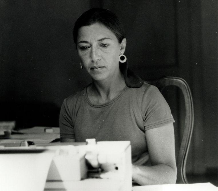 Ruth Bader Ginsburg in Italië in 1977.  Beeld AP