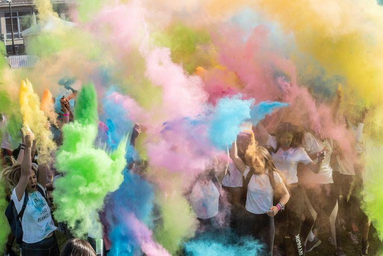 Groen, paars, geel, oranje, ... Alle kleuren van de regenboog.