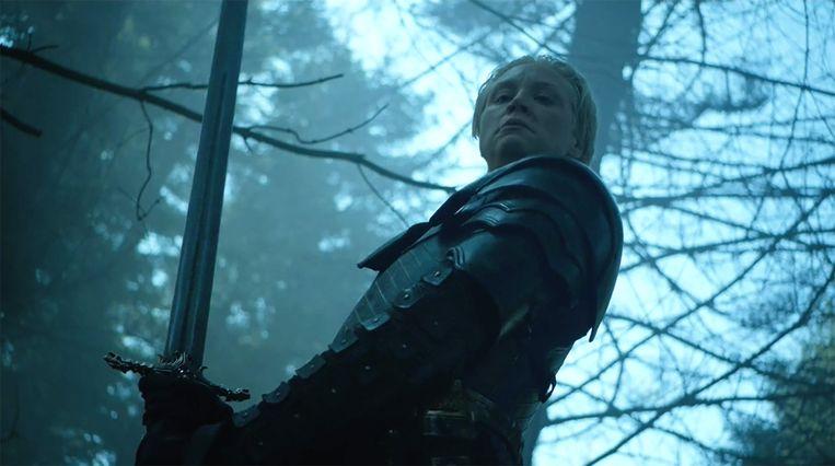 Brienne lijkt heel wat, maar schijn bedriegt. Beeld HBO
