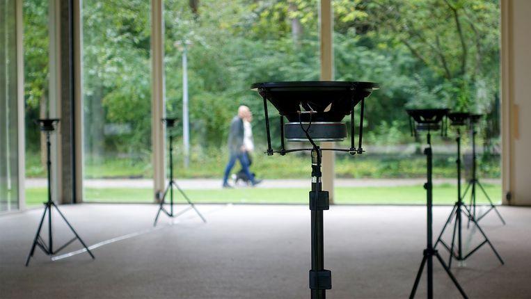 Met behulp van zestien speakers wordt een overtuigend, ruimtelijk geluidsbeeld neergezet. Beeld Jaakko Autio