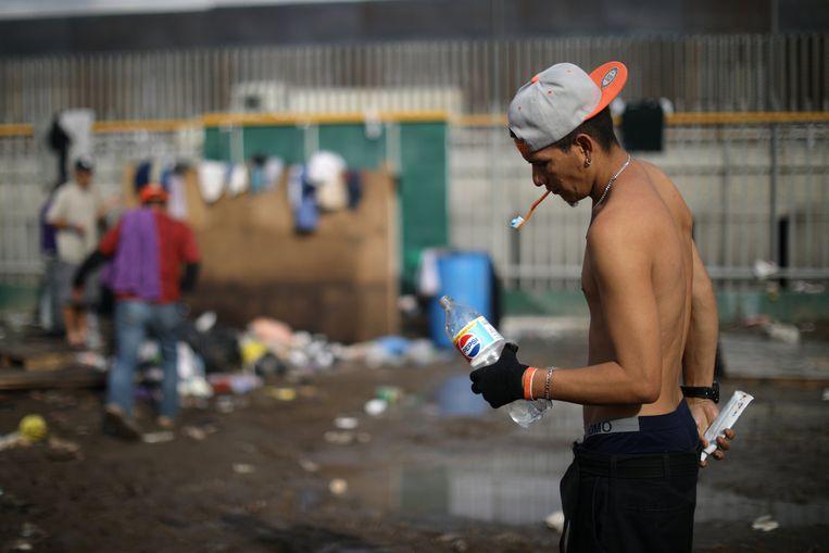 De migranten strandden in Tijuana, aan de grens met de VS.