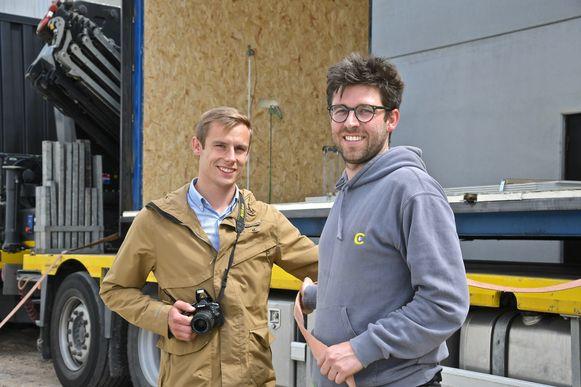 Basiel Van Cauwenberghe en Nick Degryse hielpen een handje mee bij de installatie.