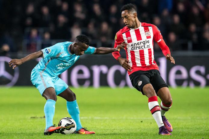 Joshua Brenet in de wedstrijd tegen FC Twente.