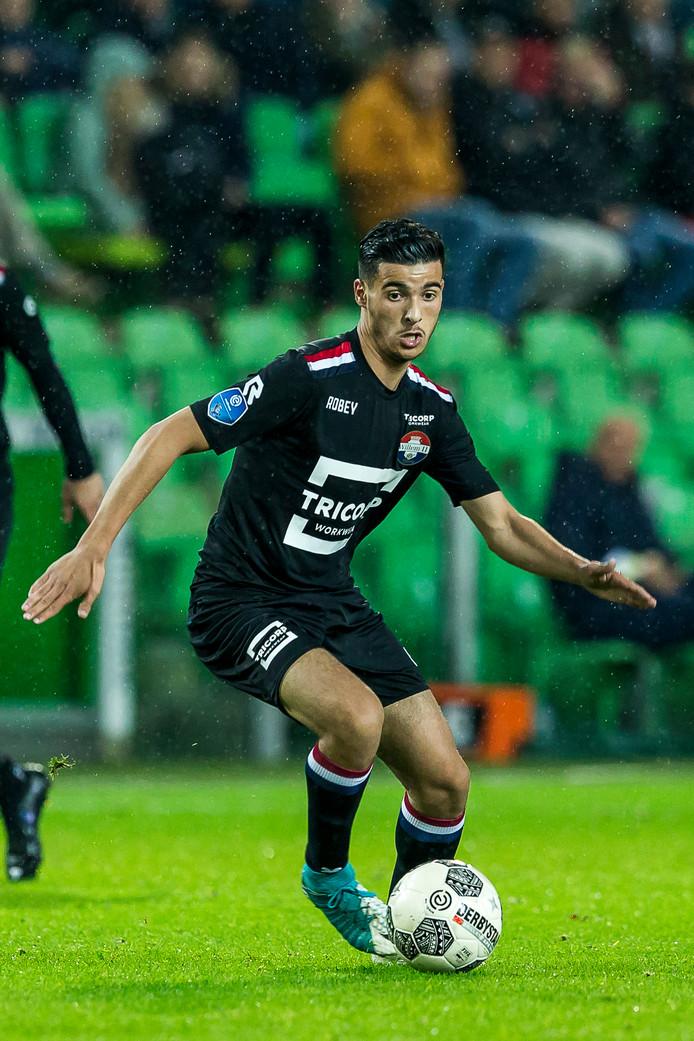 GRONINGEN - FC Groningen - Willem II 0-1, 20-10-2017. Voetbal, eredivisie voetbal seizoen 2017-2018. Willem II speler Mo el Hankouri.