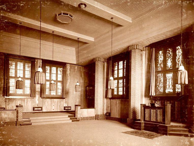 De aula, 1924 Beeld Jubileumboek 'Eens van het lyceum...'