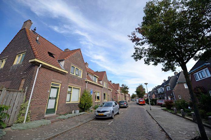 Ook deze vooroorlogse woningen in de Nijverheid zouden van het gas af moeten.