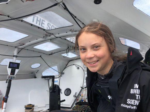 Greta Thunberg reisde eerder met een zeilboot naar de Verenigde Staten.