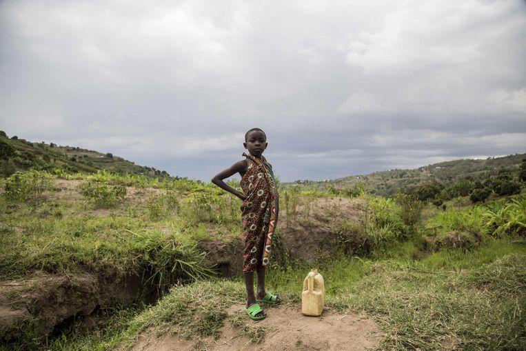 Ooit was Afrika het Giro 555-continent bij uitstek. Zwarte kindjes met grote, hulpvragende ogen sierden de Novib-kalender.  Beeld AFP
