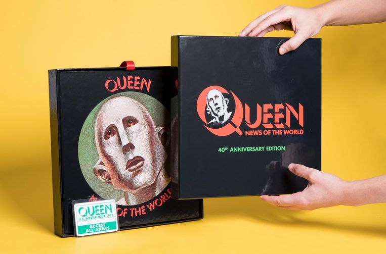 Queen, News of the World 40th Anniversary Edition, 1 lp, 3 cd's, 1 dvd. Universal. euro 120,00. Beeld null