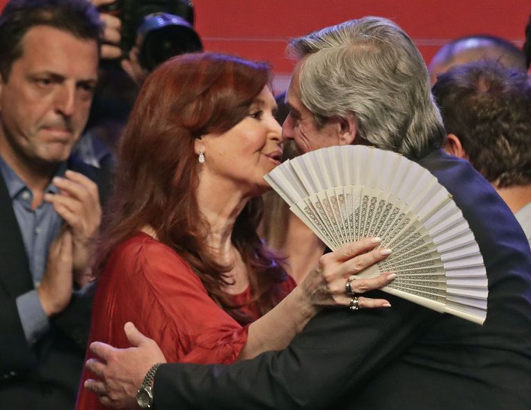 Alberto Fernández (rechts) en Cristina Fernández de Kirchner (links). Beeld AFP