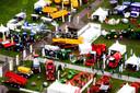 De landbouwbeurs Agrotechniek Holland op evenemententerrein Walibi vanuit de lucht