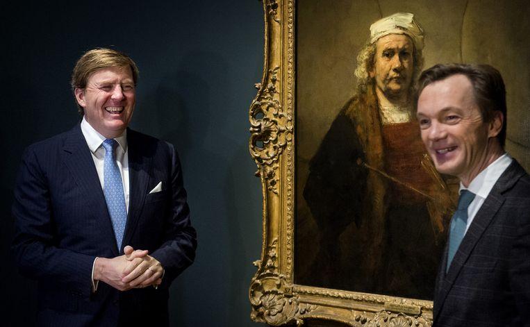 Koning Willem-Alexander opent Late Rembrandt. Beeld anp