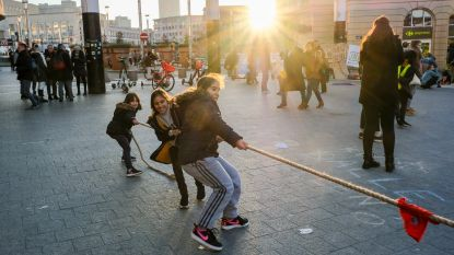 Buitenspeeldag aan centraal station tegen besparingen bij jeugdbewegingen