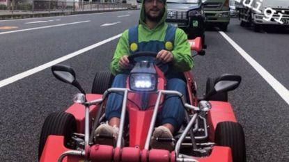 Dries Mertens speelt 'Mario Kart' in't echt