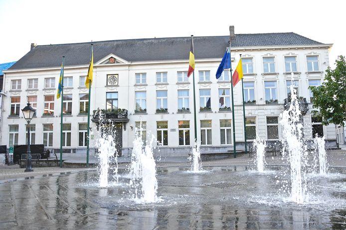 Het stadhuis van Wervik