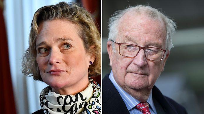 Delphine Boël en haar biologische vader Koning Albert II van België.