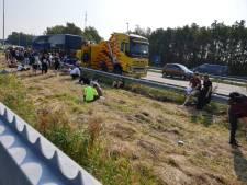 Flixbus met pech zorgt voor file op A1 bij Hengelo