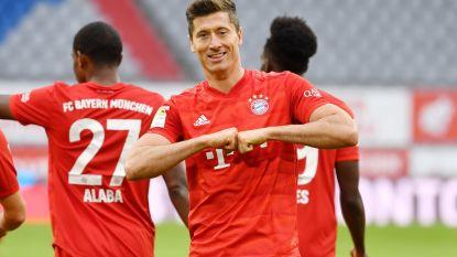 Buitenaardse Lewandowski evenaart nú al zijn doelpuntenrecord en helpt Bayern aan forfaitzege tegen Düsseldorf