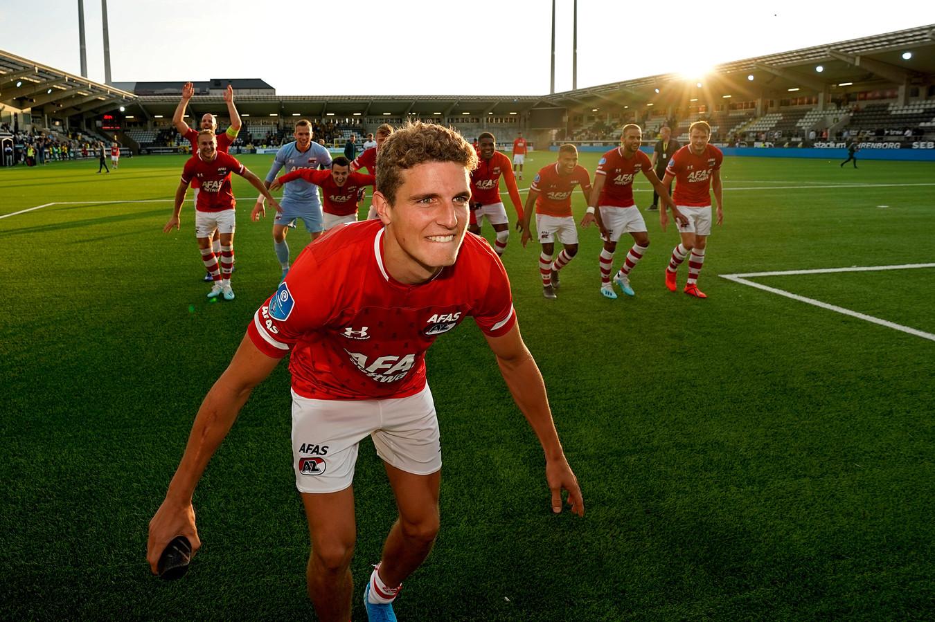 Guus Til na de gewonnen Europa League-wedstrijd tegen BK Häcken.