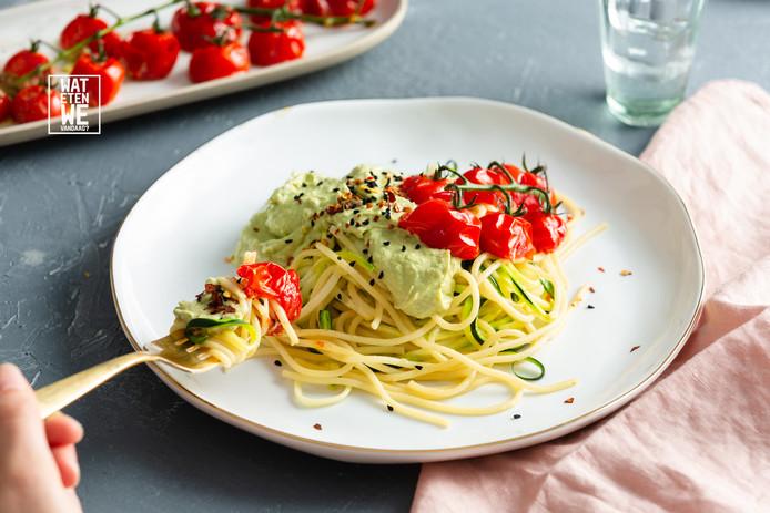 Spaghetti met avocadosaus