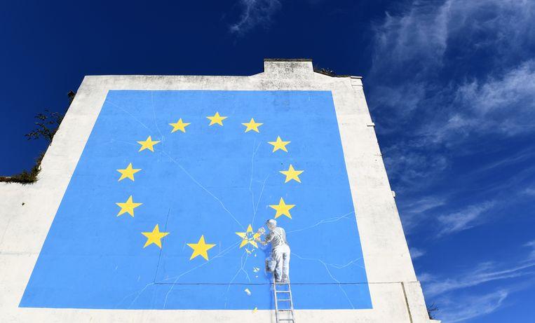 Brexit-kunstwerk van Banksy