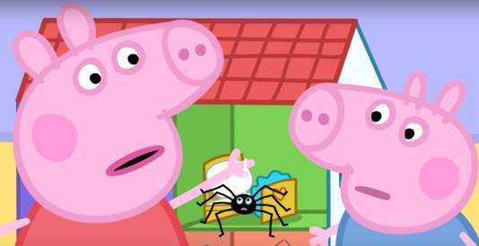 Peppa Pig en haar broertje George in de aflevering die in Australië niet langer te zien is.