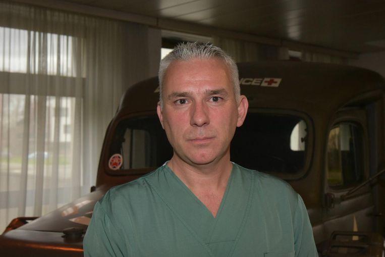 Hoofdverpleger Luc Goossens.