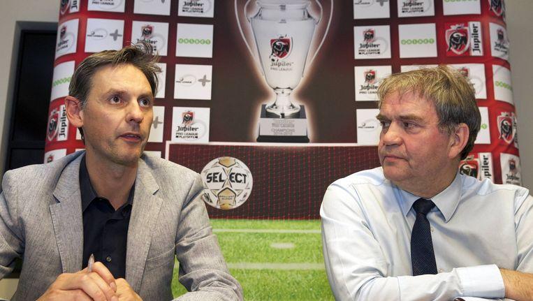 Ludwig Sneyers, directeur-generaal van de Pro League, en CEO Pierre François.