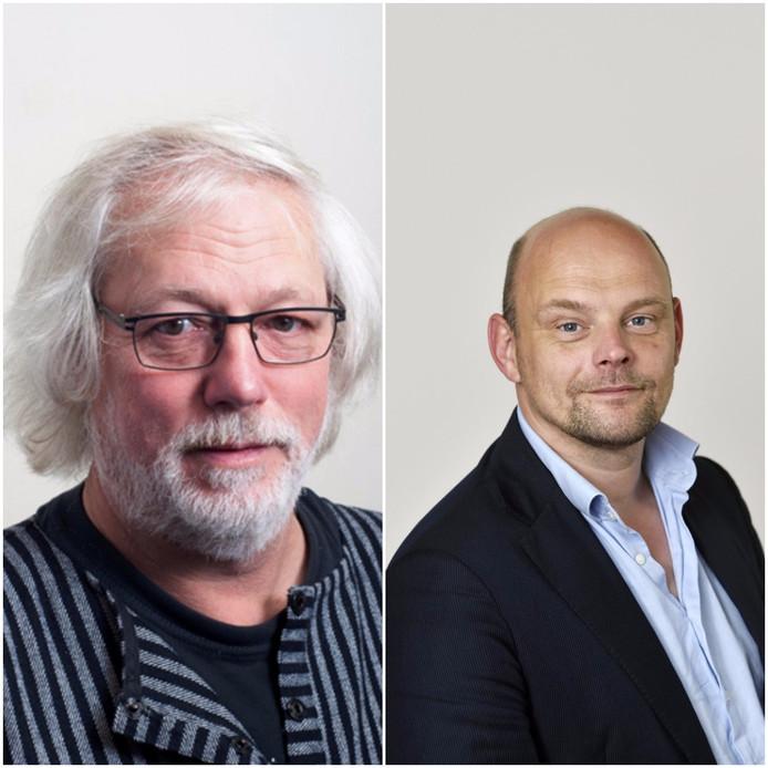 Bert Velthuis en Gerrie Elfrink, de cultuurwethouders in Nijmegen en Arnhem.