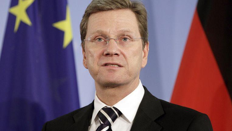 De Duitse minister van Buitenlandse Zaken Guido Westerwelle.